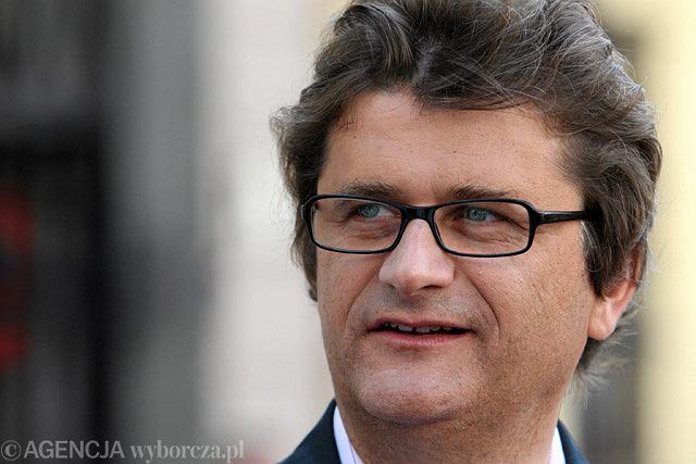 Janusz Palikot podczas konferencji, która poprzedziła jego happening na placu Litewskim w Lublinie