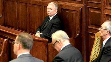Jarosław Kaczyński podczas rozprawy