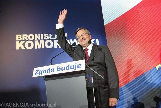Bronisław Komorowski po ogłoszeniu wyników wyborów prezydenckich