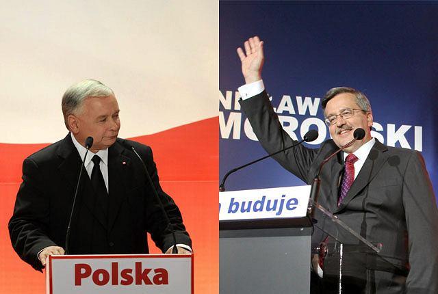 Jarosław Kaczyński i Bronisław Komorowski zmierzą się w drugiej turze wyborów prezydenckich