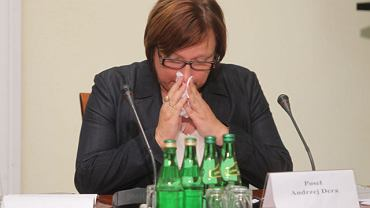 Beata Kempa na posiedzeniu komisji hazardowej tuż po przerwie w jej obradach