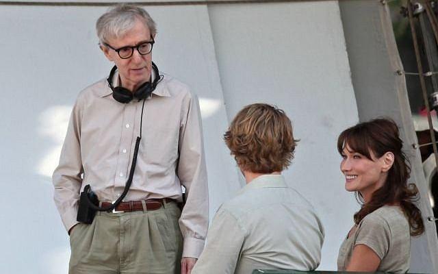 Carla Bruni na planie filmu Woodego Allena