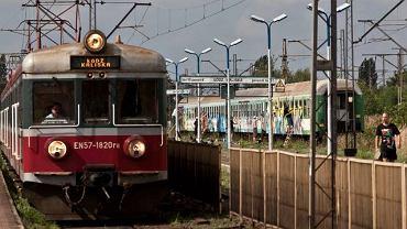 Grafficiarze pomalowali pociąg na dworcu Łódź Kaliska