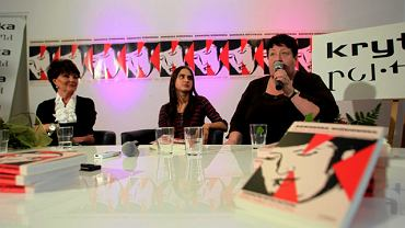 W promocji książki Henryce Krzywonos towarzyszyły między innymi Jolanta Kwaśniewska i Agnieszka Wiśniewska autorka książki ''Duża Solidarność mała solidarność Biografia Henryki Krzywonos''