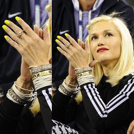 neonowe paznokcie Gwen Stefani