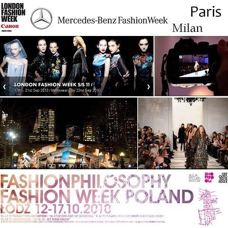 Tygodnie mody w Nowym Jorku, Londynie, Mediolanie, paryżu i Łodzi