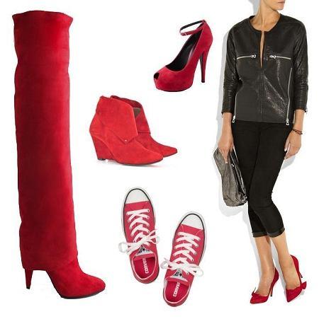 czerwone buty jesień/zima 2010/2011