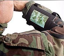 Wojskowy wyświetlacz OLED na przedramię