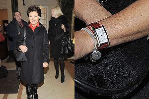 Jolanta Kwaśniewska z torebką Gucci