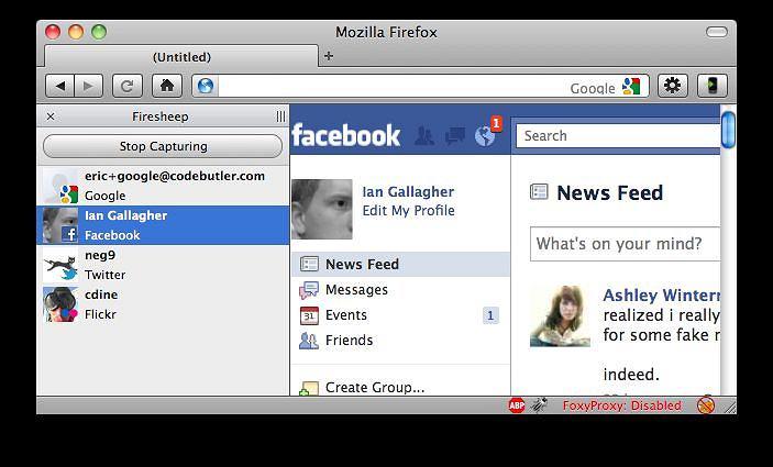 Wtyczka do Firefoksa Firesheep pozwala na przechwycenie danych użytkownika