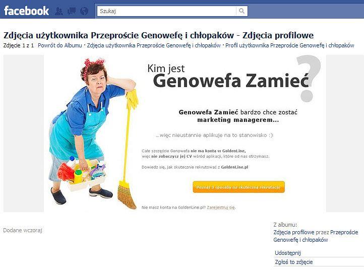 Strona protestu przeciwko reklamie GoldenLine.pl