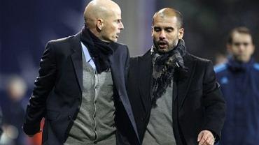 Stale Solbakken (z lewej) w towarzystwie Josepa Guardioli