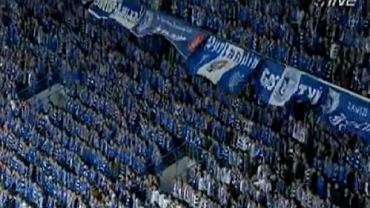 Kibice Lecha Poznań na meczu z Manchesterem City