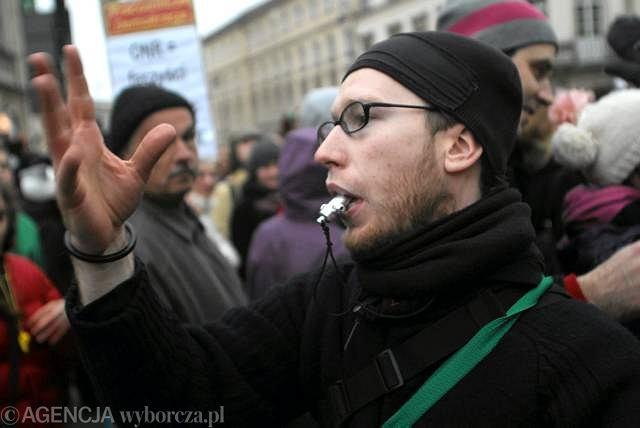 Protest przeciwko marszowi ONR