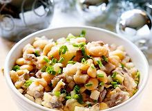 Sałatka śledziowa z fasolą i ziemniakami - ugotuj
