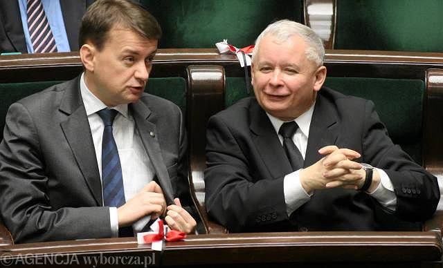 Mariusz Błaszczak i Jarosław Kaczyński