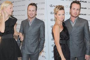 Joanna Chitruszko pilnowała Pawła Małaszyńskiego podczas spotkania z Kasią Struss. Modelka przyleciała do Polski na Lexus Fashion Award.