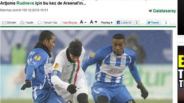 Screen z tureckiego portalu.
