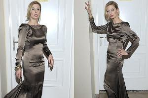 Magda Schejbal na rozdaniu Róż Gali nie popisała się modowym wyczuciem ani stylem. Założyła na siebie dziwaczną staroświecką suknię, która niestety niezbyt dobrze się układała. Do tego ten błysk! Jesteśmy porażeni. Kolejnym razem radzimy podejmować bardziej rozważne decyzje w kwestii mody. Albo po prostu skorzystać z rady stylisty.