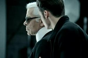 Karl Lagerfeld i Baptiste Giabiconi