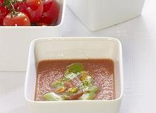 Krem z pieczonych pomidorów z bazyliowym pesto - ugotuj