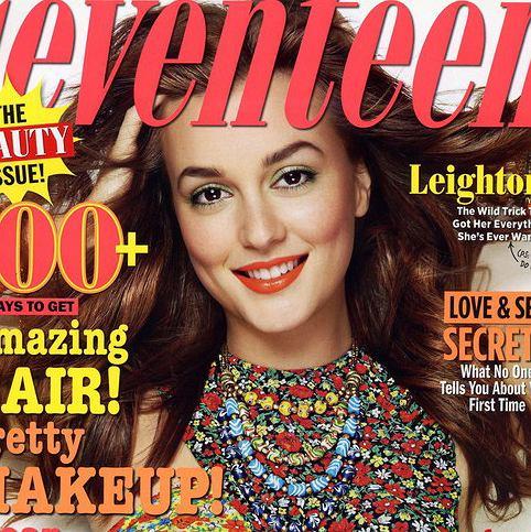 Leighton Meester na okładce Seventeen