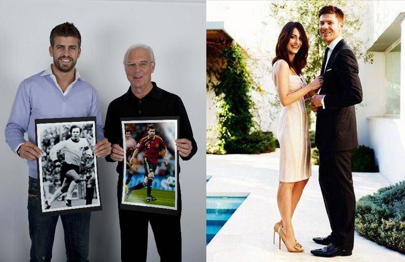 Gerard Pique i Franz Beckenbauer + Xabi ALonso i jego żona