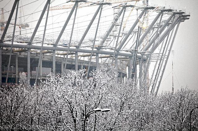 Budowa Stadionu Narodowego, styczeń 2011