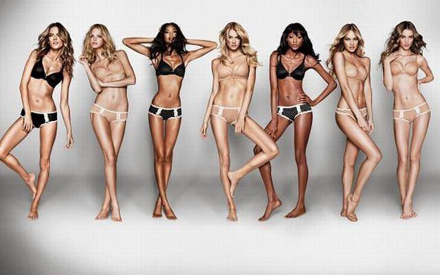 Zobacz smakowite zdjęcia z udziałem takich modelek jak Chanel Iman, Rosie Huntington-Whitely i Alessandra Ambrosio dla Victoria's Secret