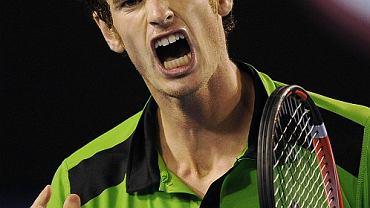 Andy Murray w meczu z Davidem Ferrerem w półfinale Australian Open