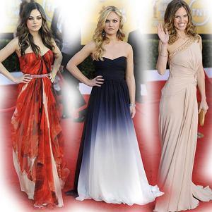 Nagroda Gildii Aktorów Filmowych, gala SAG, gwiazdy na wręczeniu nagród Stowarzyszenia Aktorów Filmowych, kreacje gwiazd na SAG, sukienki aktorek na SAG