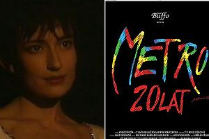 Katarzyna Groniec i plakat Metra - 20 lat.