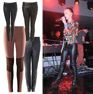W stylu gwiazd - skórzane spodnie i leginsy wet look, Monika Brodka