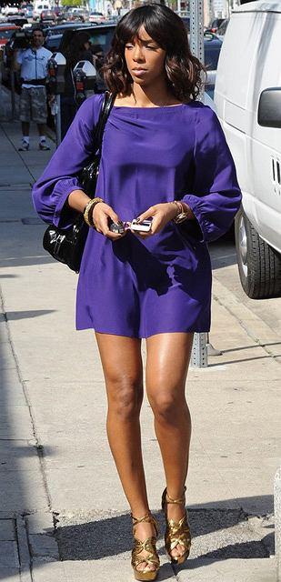 Kelly Rowland wraca z restauracji w Beverly Hills
