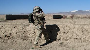 Polski żołnierz w afgańskiej prowincji Ghazni