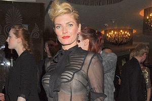 Aktorka Małgorzata Lewińska pojawiła się na imprezie ''Black Jack'' w dość oryginalnej stylizacji...