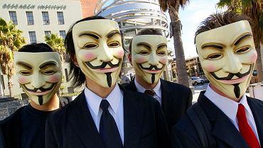 Maska Guya Fawkesa to symbol ruchu Anonymous.