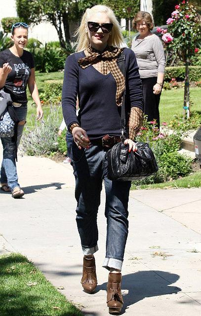 Gwen Stefani w parku