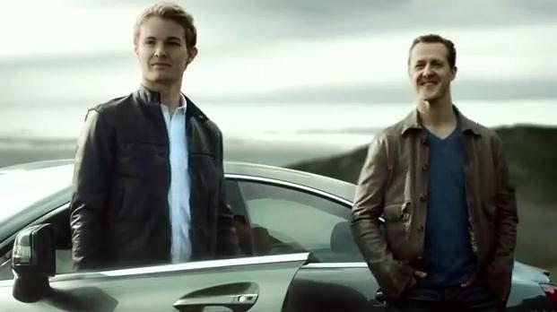 Nico Rosberg i Michael Schumacher