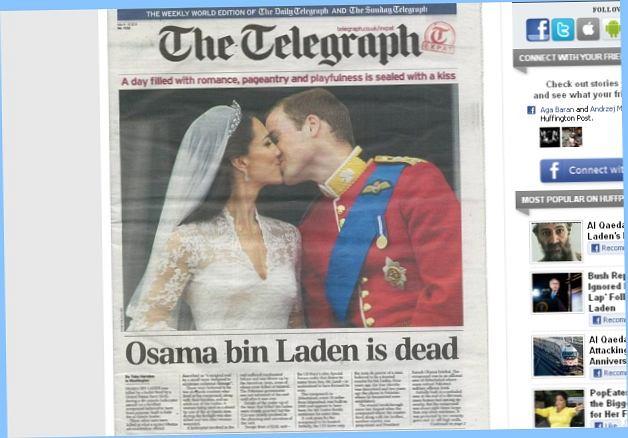 Książęcy ślub był wydarzeniem tygodnia. Przyćmił nawet wiadomość o śmierci ben Ladena.
