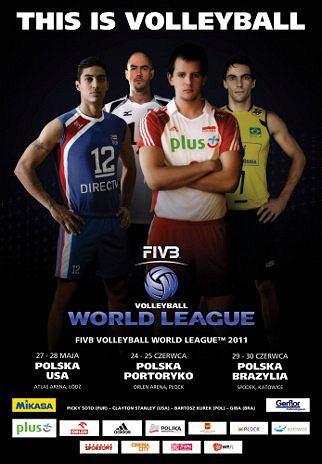 Plakat promujący rozgrywki Ligi Światowej w Polsce