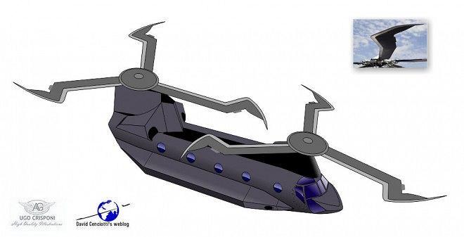 MH-47 Chinook, wersja zmodyfikowana - wizja artysty Ugo Crisponi