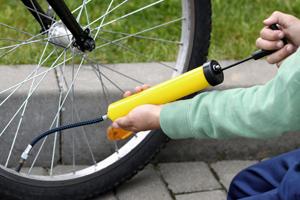 rower, pompowanie