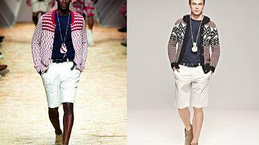 Moda z wybiegu: krótkie spodnie i sweter