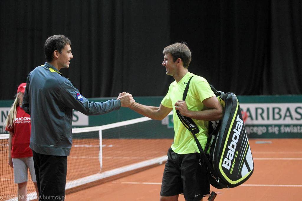 Jerzy Janowicz i Łukasz Kubot na turnieju BNP Paribas Katowice Open