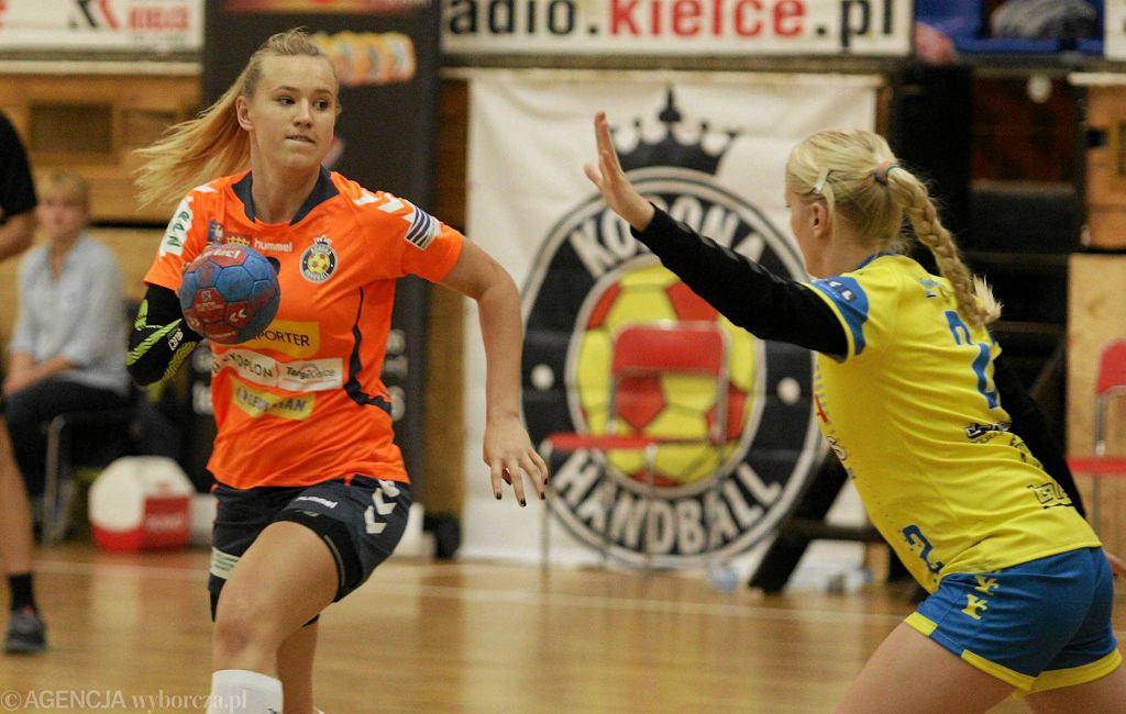 Dominika Więckowska podczas meczu Korona Handball - MTS Kwidzyn