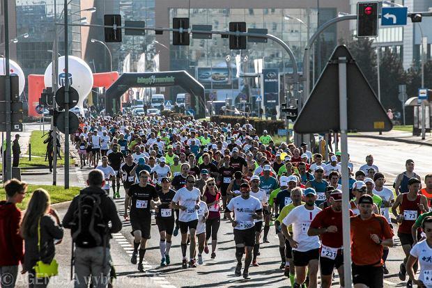 04.10.2015 Rzeszow , Millenium Hall . Maraton Rzeszowski . Fot. Jerzy Chaba / Agencja Gazeta  SLOWA KLUCZOWE: Maraton Rzeszowski