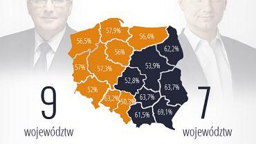 Wyniki wyborów prezydenckich w województwach, II tura