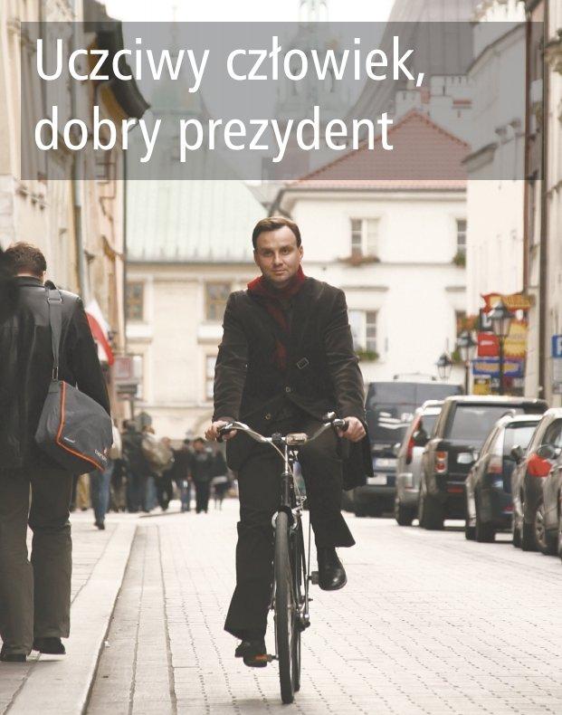 Andrzej Duda na rowerze