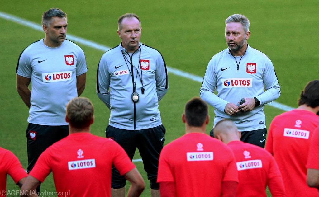 FTrening reprezentacji Polski w pilce noznej - przed meczem ze Slowenia